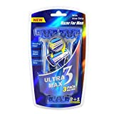Ultra Max Razor 3 Pack Blue MEN , Case of 48