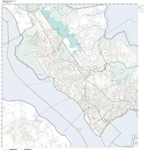 Newport News Zip Code Map Amazon.com: ZIP Code Wall Map of Newport News, VA ZIP Code Map