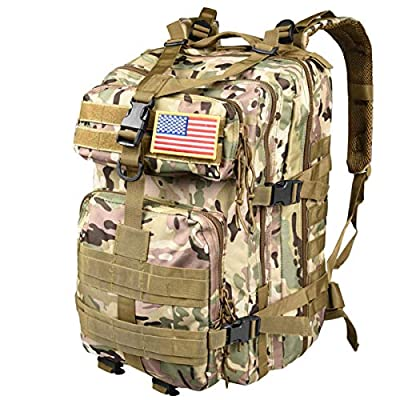 CVLIFE Military Tactical Backpack Army 3 Day Assault Pack Molle Bag EDC Rucksack