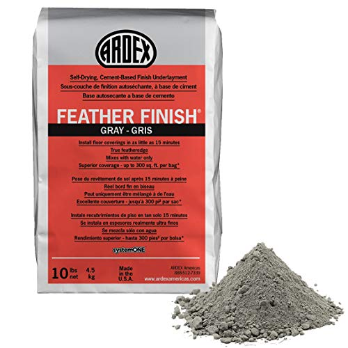 Ardex Feather Finish Grey/Gray/Gris Self-Drying Cement Based Bag 10 Lbs