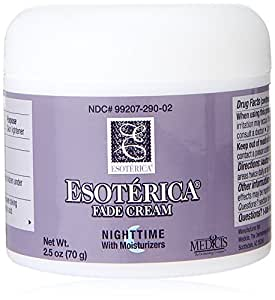 Esoterica Fade Cream Nighttime with Moisturizers, Effectively Lightens Dark Areas, Blemishes, Freckles, and Spots on the Skin, 2.5 oz.
