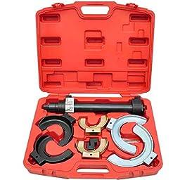 Anself Macpherson Interchangable Fork Strut Coil Spring Compressor Extractor Tool Set