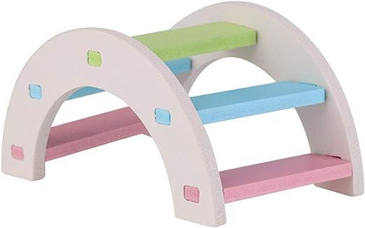 Mallalah Hamster - Juguete de Madera, Escalera de Entrenamiento, Conejo, diseño de Perro con Arco de Cielo, Juguete de Actividad, Boredom Breaker: Amazon.es: Hogar