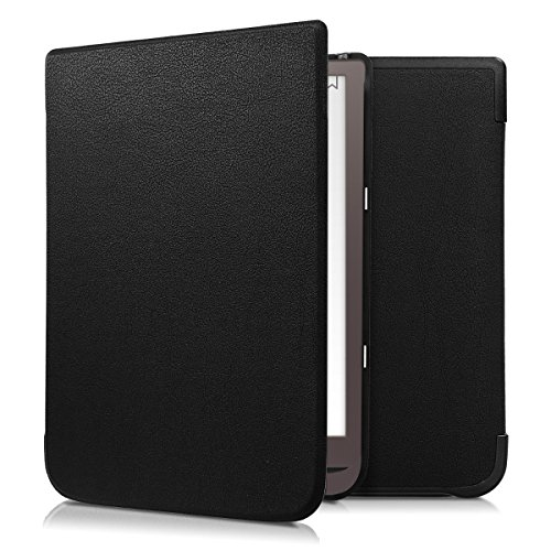 kwmobile Case for Pocketbook InkPad 3 - Book Style PU Leather Protective e-Reader Cover Folio Case - black