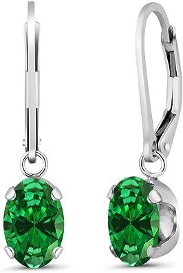 Nueva. Un par de pendientes de cristal de cubo Verde azulado con 925 Ganchos De Plata Maciza