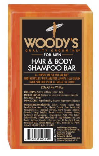 Woody's Grooming Hair and Body Shampoo Bar 8 oz Body Hair Grooming