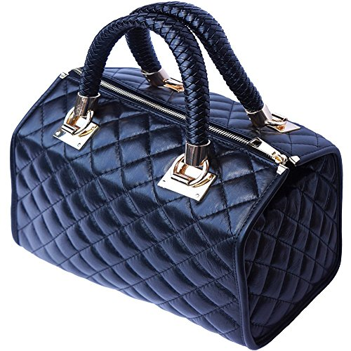 in Bauletto con accessori oro pelle 7003 Nero FfqdrfZ0