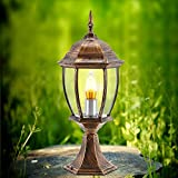 Modeen Continental Outdoor Table Lamp Column Lamp Tradition Victoria Antique Wall Garden Lawn Lights Patio Villa Post Light Waterproof Outdoor Glass Light E27 Decoration Lamp