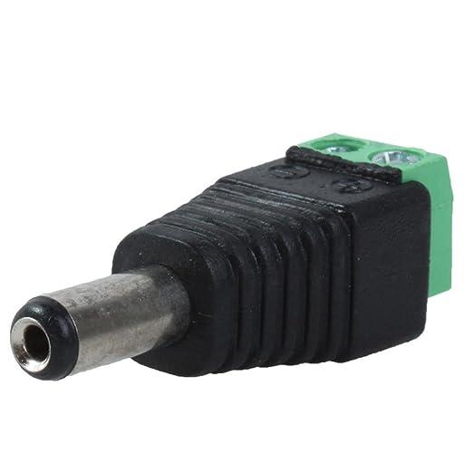 niceEshop 10 Piezas 5.5mm x 2.1mm Conector Hembra Cable de Alimentación de CC Conector para CCTV Cámara: Amazon.es: Bricolaje y herramientas