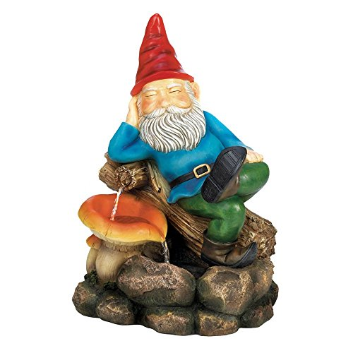 Home Locomotion Relaxing Gnome Water Fountain by Cascading Fountains