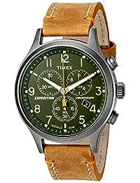 Timex Men's Expedition TW4B04400 Brown Leather Analog Quartz Dress Watch