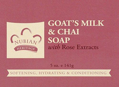Nubian Heritage Bar Soap Goat's Milk And Chai 5 oz