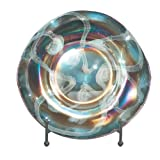 Dale Tiffany PG70345 Seaside Heights Decorative Charger Plate, 16-Inch Diameter