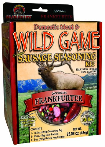 - Hi-Country Snack Foods Domestic Meat and WILD GAME 23.06 oz. German Frankfurter Home Made Dinner Style Sausage Spice Kit-No MSG