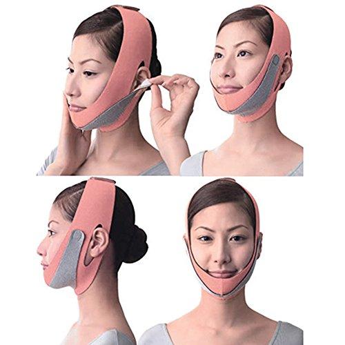 Anti Wrinkle Face Slimming Cheek Mask V Line Facial Mask Lift Up Strap Chin Face Line Belt Strap Band (Orange)
