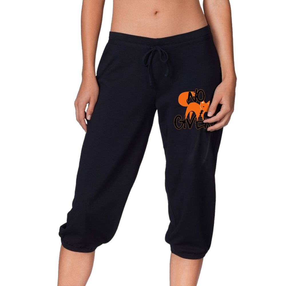 Funny No Fox Given Women's Lightweight Drawstring Exercise French Terry Lounge Pants by OneWomenHeart