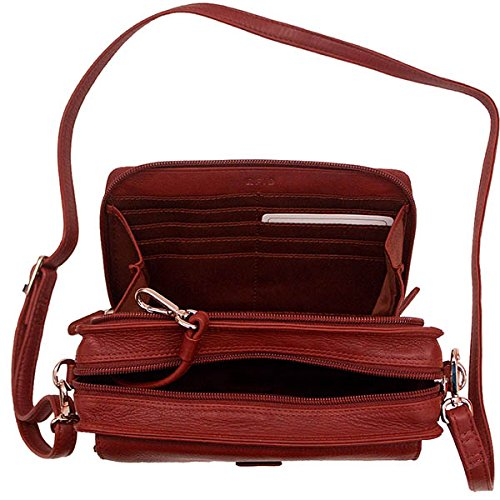 Organizer Crossbody Handbag Leather 6219 ILI CRxtqBX0