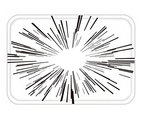 Beshowere Doormat illustration vector starburst black lines from the middle
