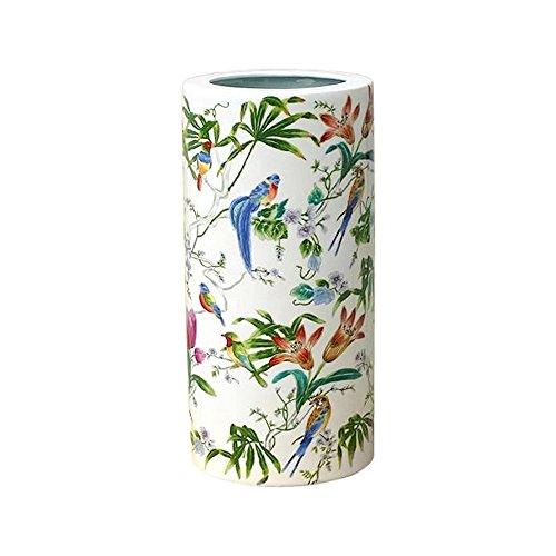 Chinese Floral and Bird Motif Porcelain Umbrella ()
