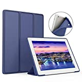 aoub for (Old Model) ipad 2/3/4 case Slim Lightweight Tri-Fold Silicone Stand Cover with Auto Sleep/Wake Function,for Old iPad 2th/3th/4th Generation case (Navy)