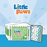 ABU Little Pawz Adult Diapers, Medium, packs of