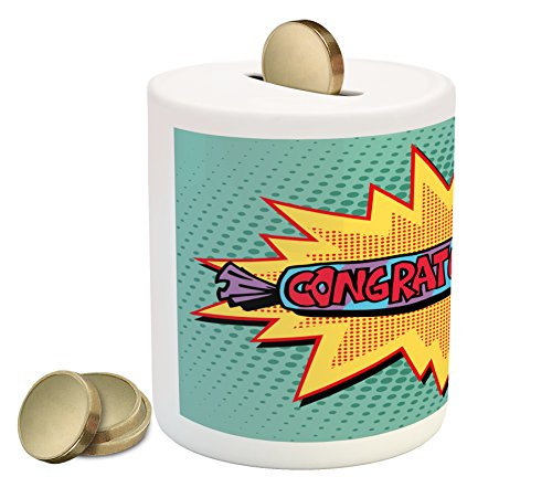 Lunarable Graduation Piggy Bank, Congratulations on Candy an