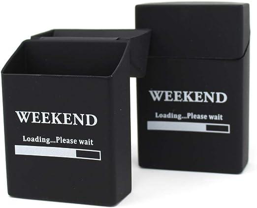 Weekend - 2 Cajas de Cigarrillos de Silicona - Actualización 2019 - Funda para Cigarrillos - Funda para Paquete de Cigarrillos de tamaño estándar - También con 21 Cajas de 21 Unidades: Amazon.es: Hogar
