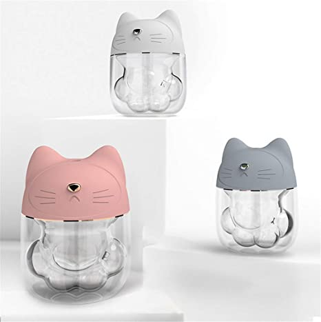 FENGCLOCK Cat Shaped Humidifier, LED Night Light Air