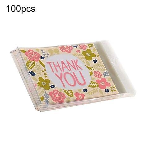 Lacyie 100 Piezas de Plástico Bolsa de Embalaje de Celofán ...