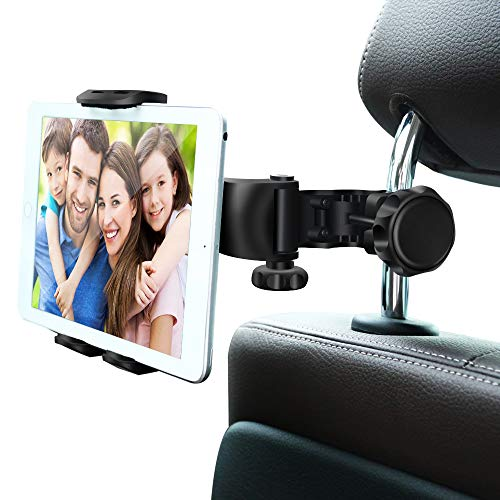 Car Headrest Mount, Ansteker Adjustable Car Tablet Mount Holder for iPad Pro/Air/Mini,Tablets, Nintendo Switch,Kindle Fire HD,iPhone,Smartphones Headrest Holder Stand for 4