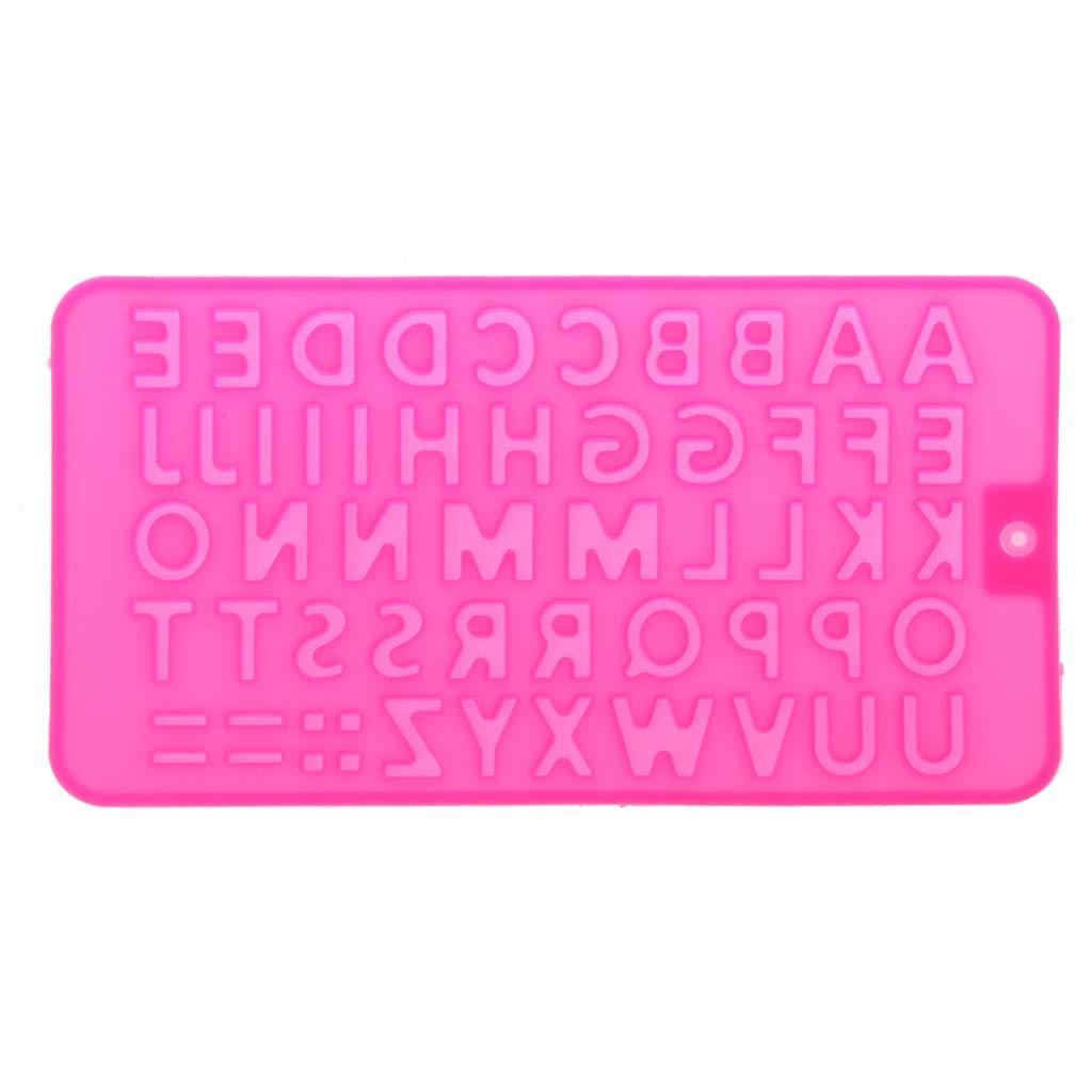 SimpleLife 26 Lettere dell'alfabeto Vassoio del cubo di Ghiaccio Strumento di creazione di Gioielli in Resina Stampo in Silicone (Colore a Caso)