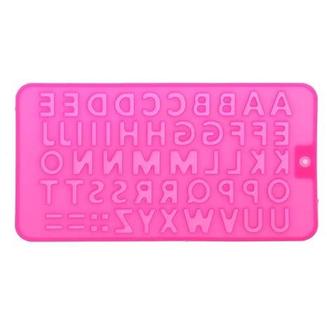 SimpleLife 26 Letras del Alfabeto Bandeja de Cubitos de Hielo Molde de Silicona Resina Fabricación de