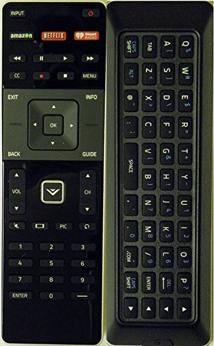 Smartby Smart TV Remote with Backlight QWERTY Keyboard compatible with Vizio M602I-B3 M322I-B1 M422I-B1 M602I-B3 P502UI-B1E P602UI-B3 M652I-B2 M552I-B2 M702I-B3 M502I-B1B1 by Smartby