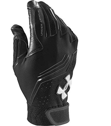 Men's Under Armour Clean Up V Batting Gloves Black/White Size Small