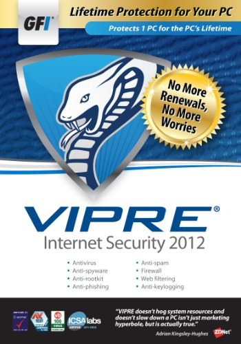 GFI Software VIPRE IS 2012 - 1PC Lifetime [Old Version]