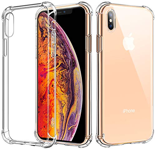 Matone for iPhone Xs Case, for iPhone X Case, [Crystal Clear] Slim Protective Scratch Resistant Shock Absorption Bumper Soft TPU Case Cover for Apple iPhone Xs (2018)/iPhone X (2017) ()