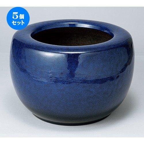 5個セット10号生子火鉢 [ 30 x 22cm ] 【 花瓶 】 【 インテリア 置物 料亭 旅館 業務用 】 B07BWD5H7Y