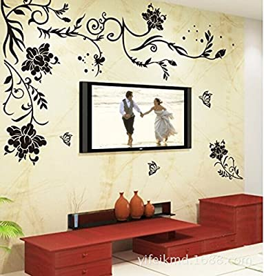 Flower wall stickers Birds wall murals Trees wall decals Heart Carriage wall stickers Removable waterproof vinyl PVC film self adhesive murals living room bed room fresco