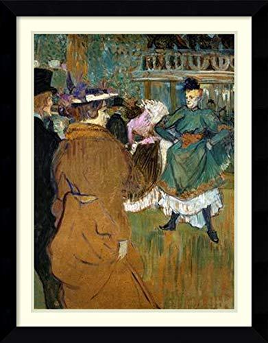 Framed Wall Art Print Quadrille at The Moulin Rouge by Henri de Toulouse-Lautrec 26.38 x 33.75