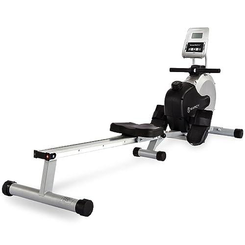 Marcy RM413 Henley Magnetic - Máquina de remo para fitness, color plateado