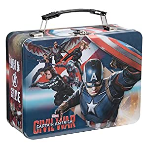 Vandor 26670 Marvel Captain America Civil War Large Tin Tote, Multicolored