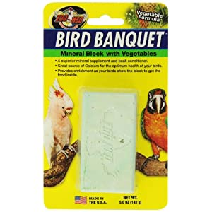 Zoo Med Mineral Block With Vegetables Bird Banquet, 5-Ounce 1