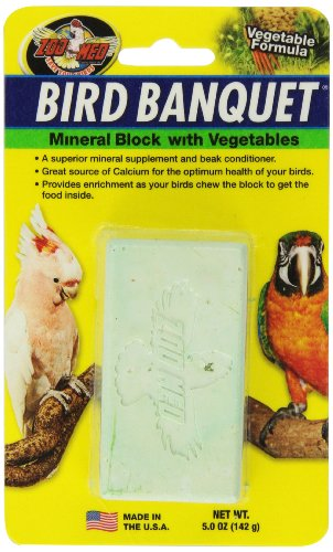 Mineral Bird - Zoo Med Mineral Block with Vegetables Bird Banquet, 5-Ounce