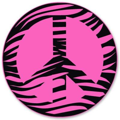 Zebra Peace Pink Vinyl Sticker - Car Window Bumper Laptop - SELECT SIZE