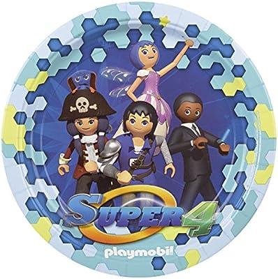 Set de 8 platos Playmobil 23 cm
