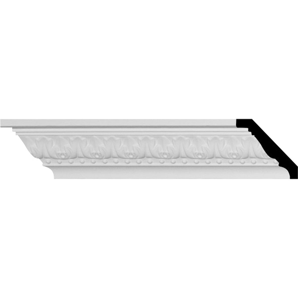 2 3/8''H x 2 3/8''P x 3 1/4''F x 94 1/2''L, (1 1/2'' Repeat), Nadia Crown Moulding (12-Pack) by Ekena Millwork