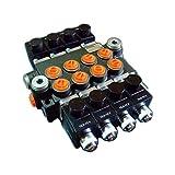 Hydraulic Monoblock Solenoid Control Valve, 4 Spool, 13 GPM, 12V DC