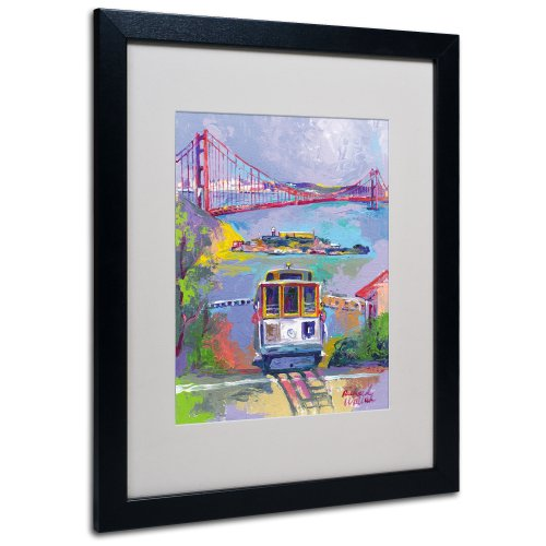 (San Francisco 2 Artwork by Richard Wallich, 16 by 20-Inch, Black Frame)