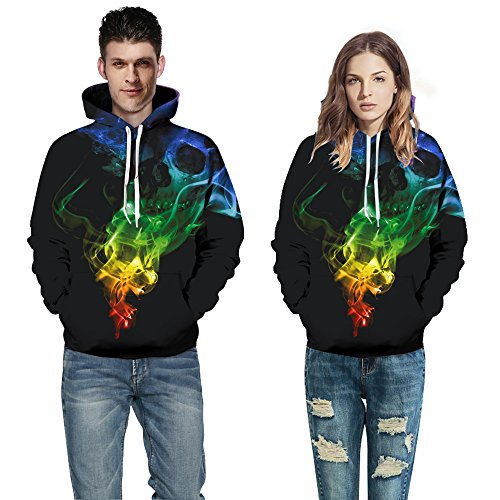 FUN.S Men's Women's Christmas Sweater Shantou 3D Printed Sweatshirts Hooded Pullover Sweatshirt (style1 L) -