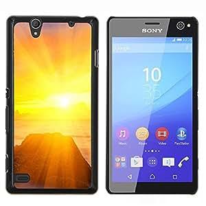 For Sony Xperia C4 Case , Puesta de sol Mar Beautiful Nature 25- Diseño Patrón Teléfono Caso Cubierta Case Bumper Duro Protección Case Cover Funda